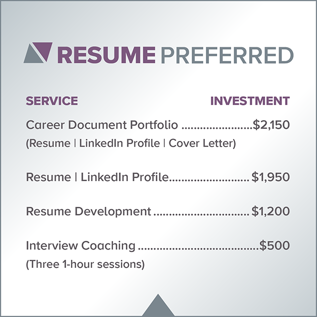 Resume Preferred Services & Fees